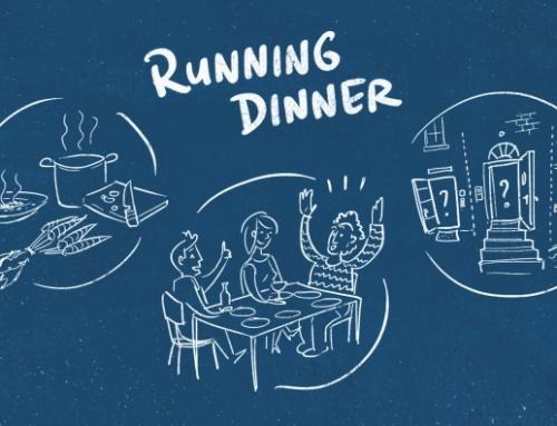 Het Running Dinner staat gepland op zondag 8 oktober vanaf 18.00 uur.